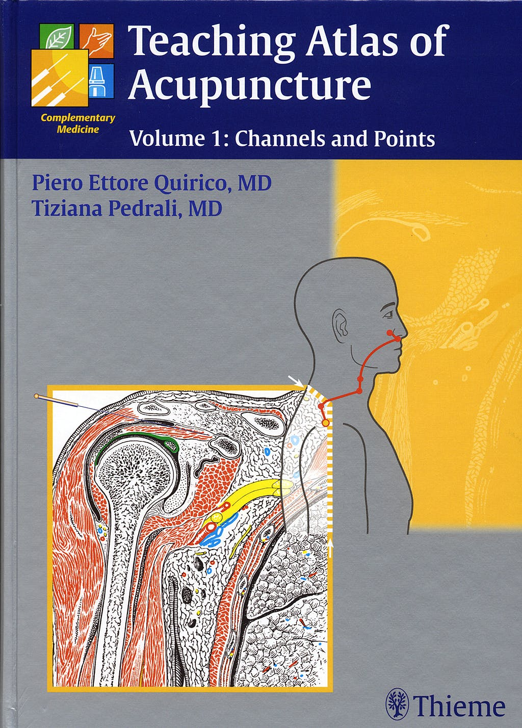 Portada del libro 9783131412515 Teaching Atlas of Acupuncture, Vol. 1: Channels and Points