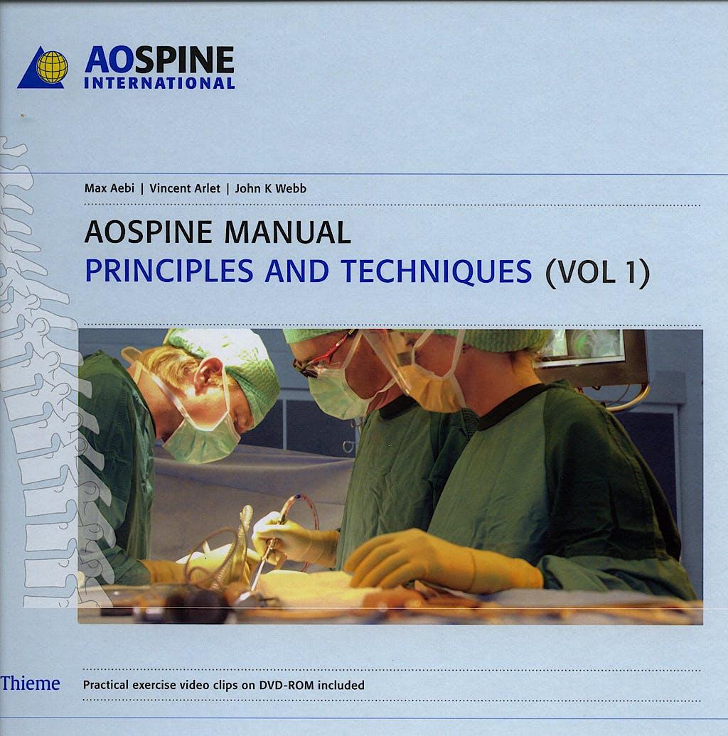Portada del libro 9783131444813 AOSpine Manual, 2 Vols. + DVD-ROM: Principles and Techniques + Clinical Applications