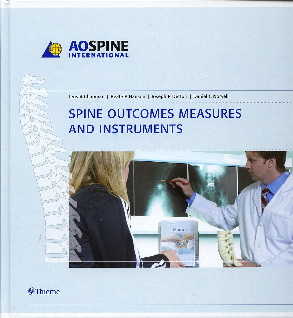Portada del libro 9783131479815 AOSpine International. Spine Outcomes Measures and Instruments