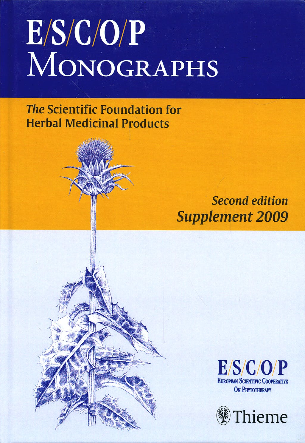 Portada del libro 9783131499813 Escop Monographs. the Scientific Foundation for Herbal Medicinal Products. Second Edition, Supplement 2009