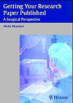 Portada del libro 9783131499912 Getting Your Research Paper Published. a Surgical Perspective