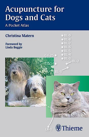 Portada del libro 9783131546913 Acupuncture for Dogs and Cats. A Pocket Atlas