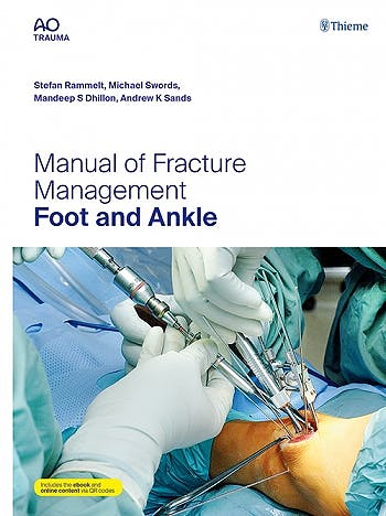 Portada del libro 9783132434585 Manual of Fracture Management. Foot and Ankle (AO Trauma) (Includes E-Book and Online Content)