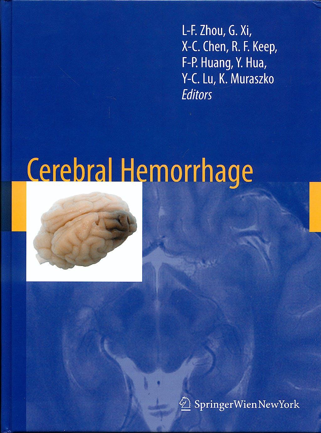 Portada del libro 9783211094686 Cerebral Hemorrhage
