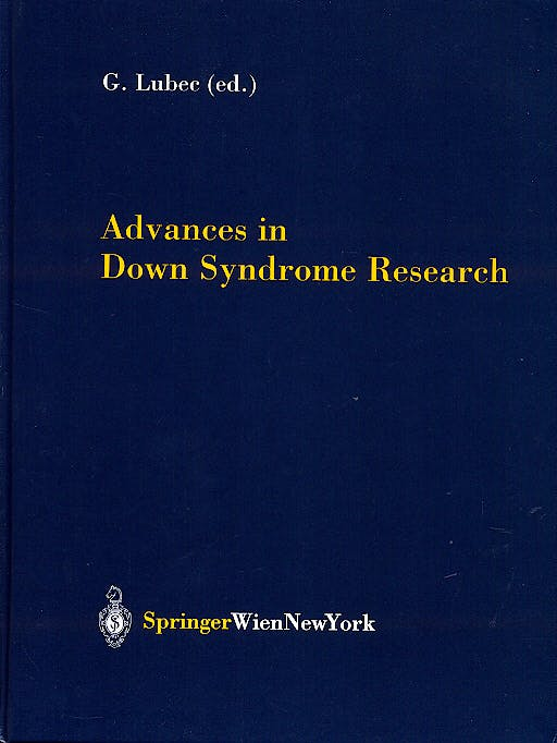 Portada del libro 9783211407813 Advances in down Syndrome Research