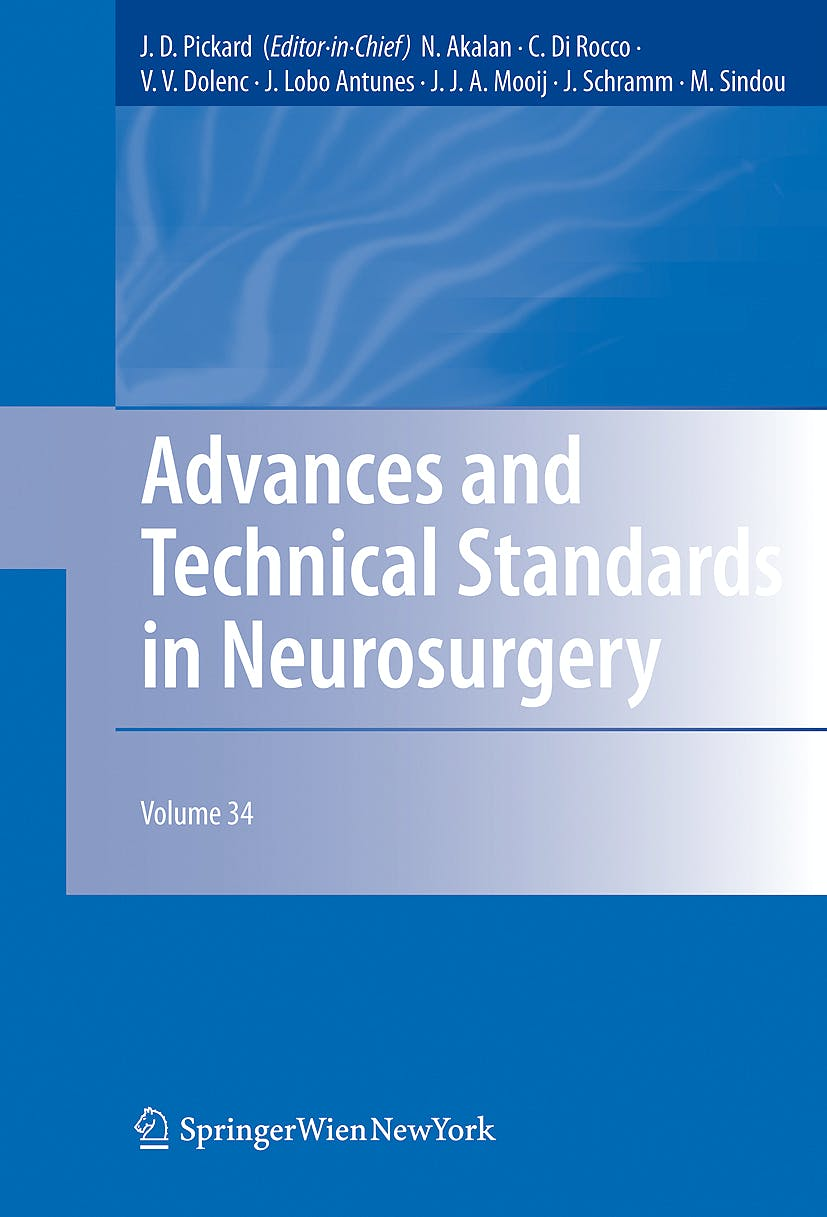 Portada del libro 9783211787403 Advances and Technical Standards in Neurosurgery, Vol. 34 (Hardcover)