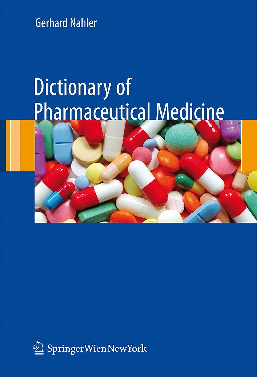 Portada del libro 9783211898352 Dictionary of Pharmaceutical Medicine