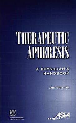 Portada del libro 9783318022261 Therapeutic Apheresis: A Physician's Handbook