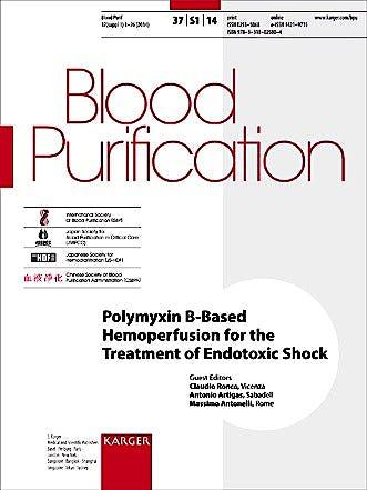 Portada del libro 9783318025804 Polymyxin B-Based Hemoperfusion for the Treatment of Endotoxic Shock. Blood Purification 2014, Vol. 37, Suppl. 1