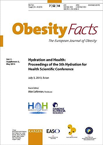 Portada del libro 9783318025880 Hydration and Health: Proceedings of the 5th Hydration for Health Scientific Conference, Evian, July 2013 (Obesity Facts 2014, Vol. 7, Suppl. 2)