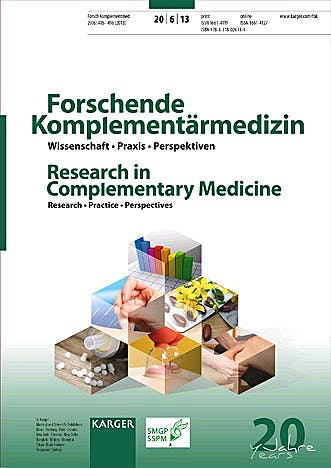 Portada del libro 9783318026184 Fasting Therapy - Old and New Perspectives. Research in Complementary Medicine 2013, Vol. 20, No. 6