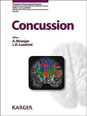 Portada del libro 9783318026481 Concussion (Progress in Neurological Surgery, Vol. 28)
