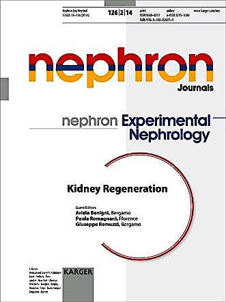 Portada del libro 9783318026771 Kidney Regeneration (Nephron Experimental Nephrology 2014, Vol. 126, No. 2)