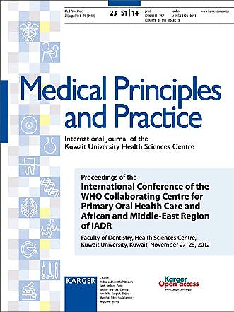 Portada del libro 9783318026863 Medical Principles and Practice. International Journal of the Kuwait University Health Sciences Centre. Proceedings of the International Conference…