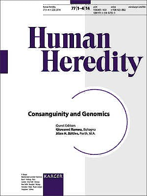Portada del libro 9783318027020 Consanguinity and Genomics (Human Heredity, Vol. 77, Nº 1-4)