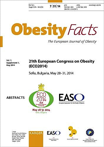 Portada del libro 9783318027075 European Congress on Obesity (Eco2014). 21st Congress, Sofia, May 2014: Abstracts (Obesity Facts 2014, Vol. 7, Suppl. 1)