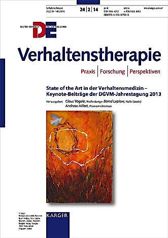 Portada del libro 9783318027099 State of the Art in Der Verhaltenstherapie - Keynote-Beitrage Der Dgvm-Jahrestagung 2013 (Verhaltenstherapie 2014, Band 24, No. 2)