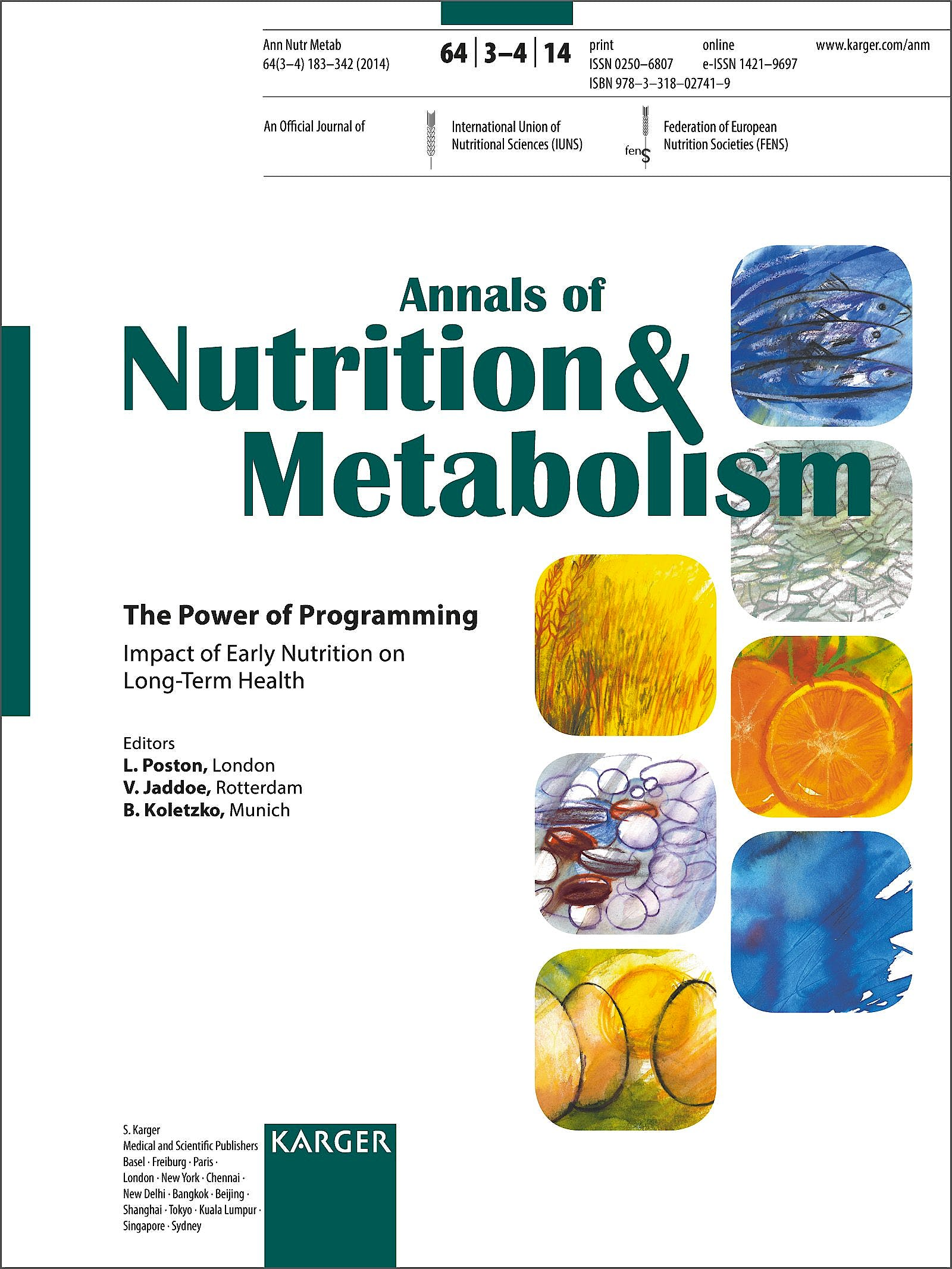Portada del libro 9783318027419 The Power of Programming 2014: Impact of Early Nutrition on Long Term Health Special Topic Issue