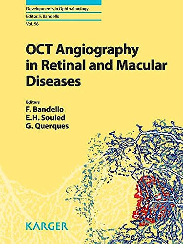 Portada del libro 9783318058291 OCT Angiography in Retinal and Macular Diseases (Developments in Ophthalmology, Vol. 56)