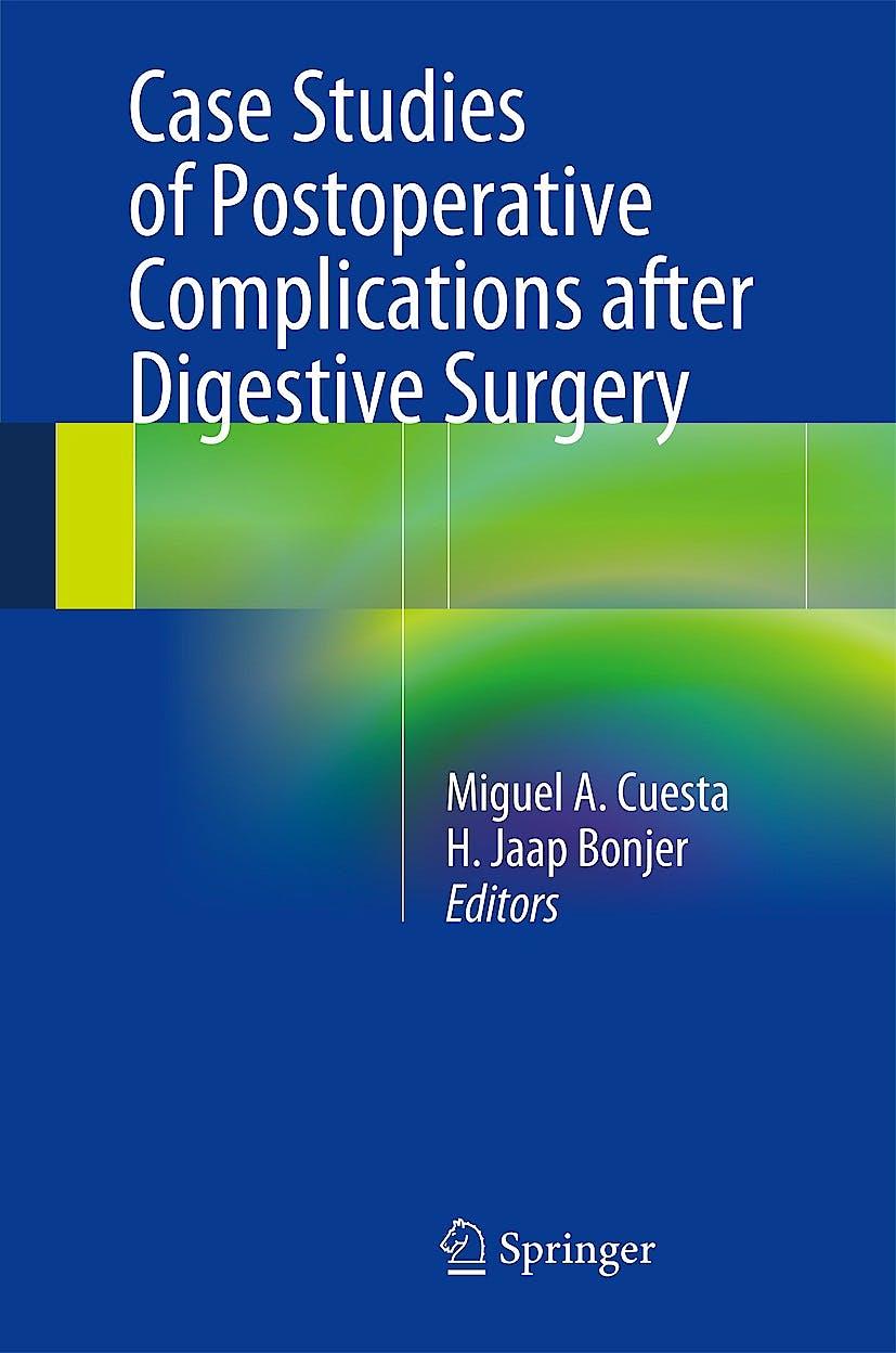 Portada del libro 9783319016122 Case Studies of Postoperative Complications after Digestive Surgery
