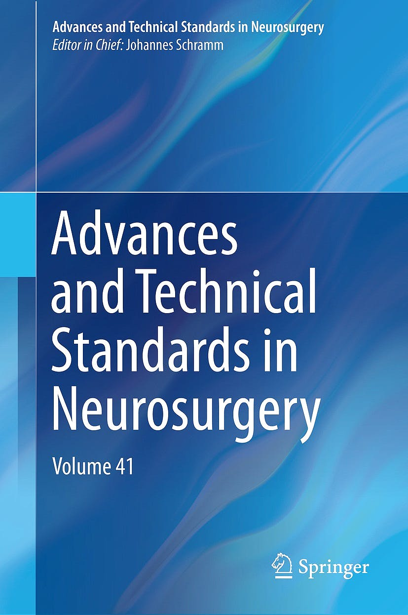 Portada del libro 9783319018294 Advances and Technical Standards in Neurosurgery, Vol. 41 (Hardcover)