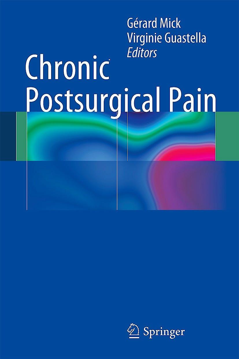 Portada del libro 9783319043210 Chronic Postsurgical Pain