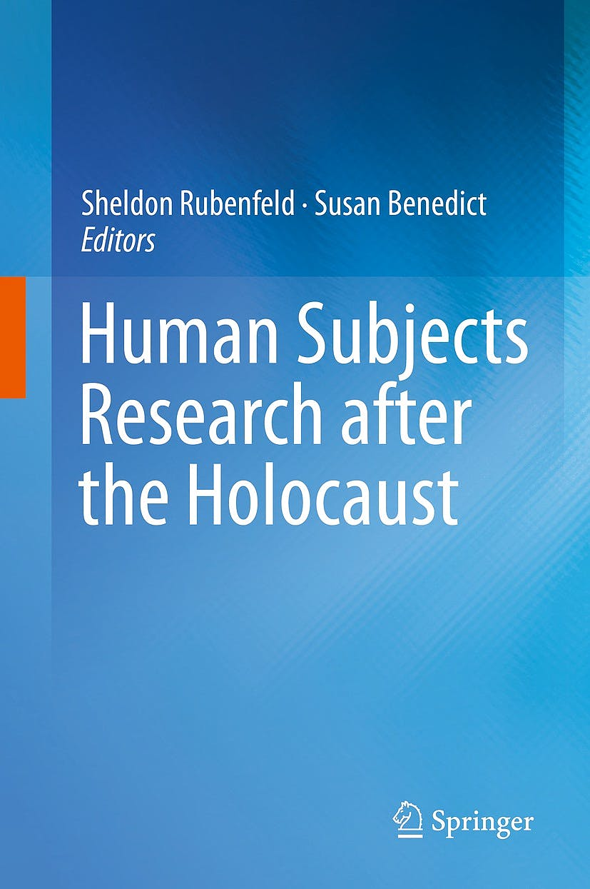 Portada del libro 9783319057019 Human Subjects Research after the Holocaust (Hardcover)