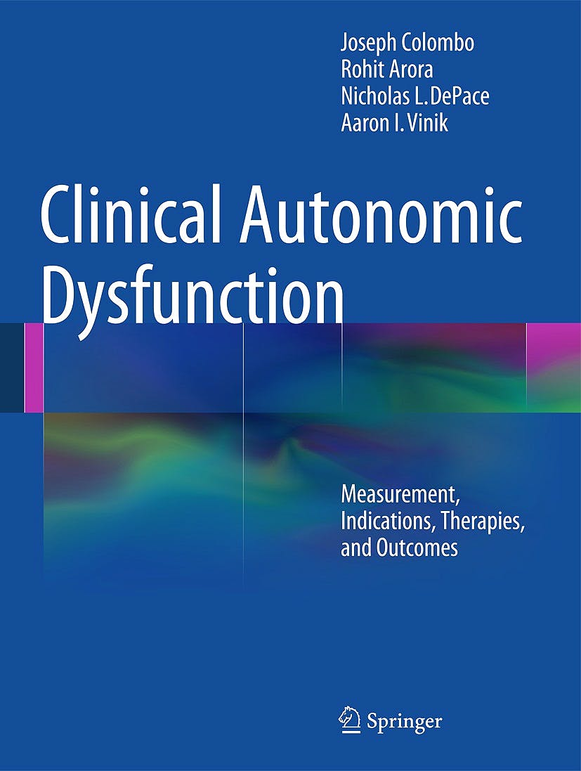 Portada del libro 9783319073705 Clinical Autonomic Dysfunction. Measurement, Indications, Therapies, and Outcomes