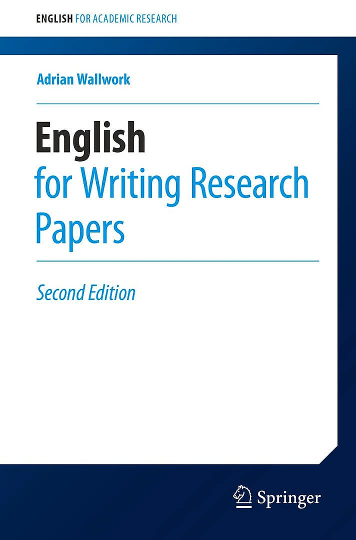 Portada del libro 9783319260921 English for Writing Research Papers