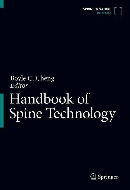 Portada del libro 9783319444253 Handbook of Spine Technology (Print + E-Book)
