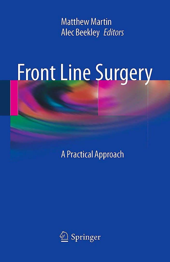 Portada del libro 9783319567792 Front Line Surgery. A Practical Approach