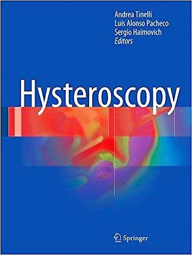 Portada del libro 9783319575582 Hysteroscopy