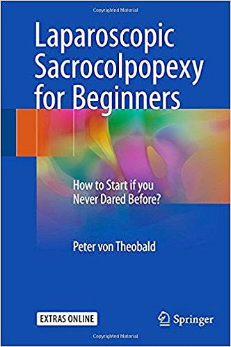 Portada del libro 9783319576350 Laparoscopic Sacrocolpopexy for Beginners. How to Start if You Never Dared Before?