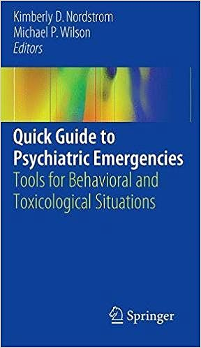 Portada del libro 9783319582580 Quick Guide to Psychiatric Emergencies. Tools for Behavioral and Toxicological Situations