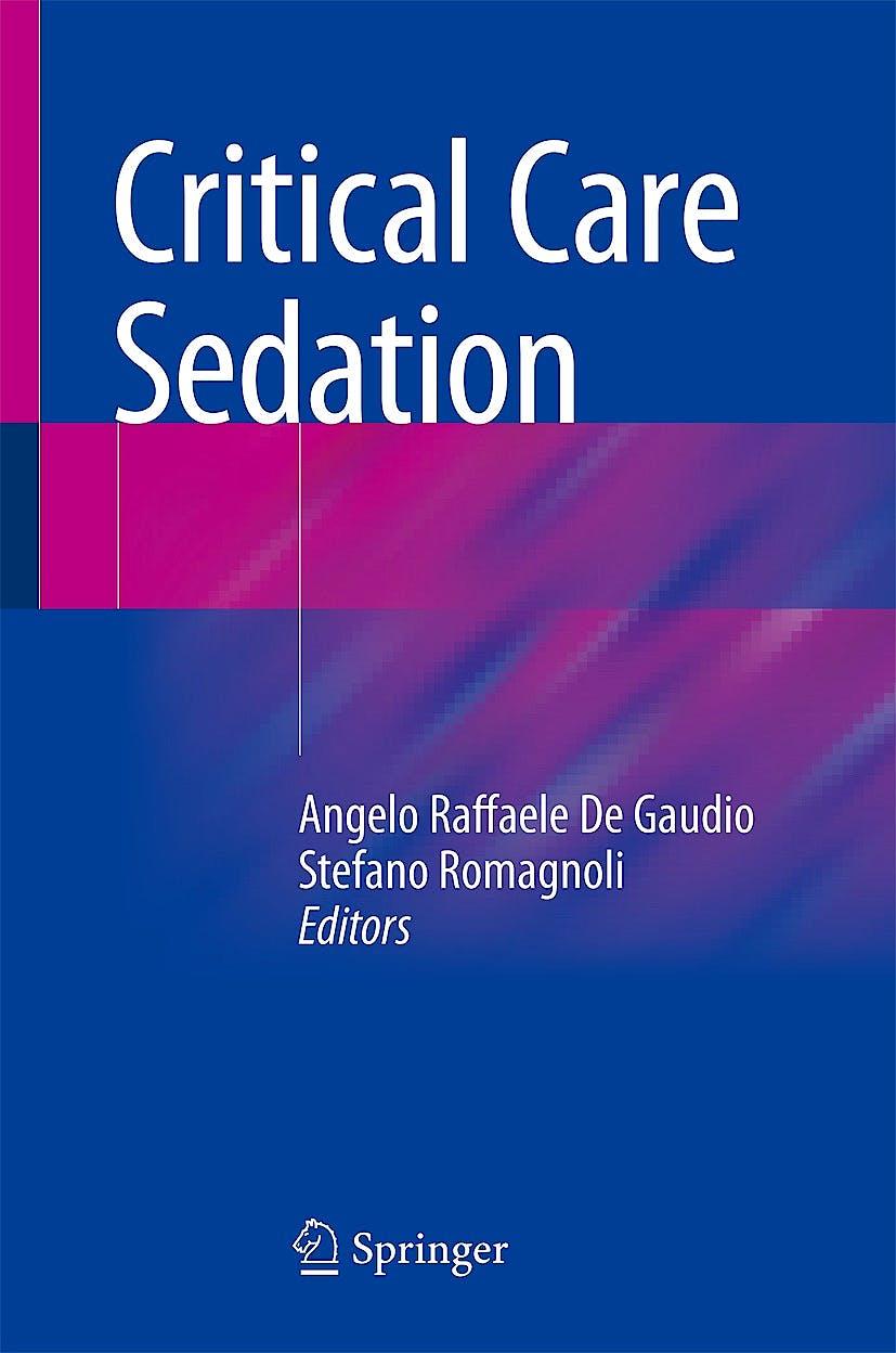 Portada del libro 9783319593111 Critical Care Sedation