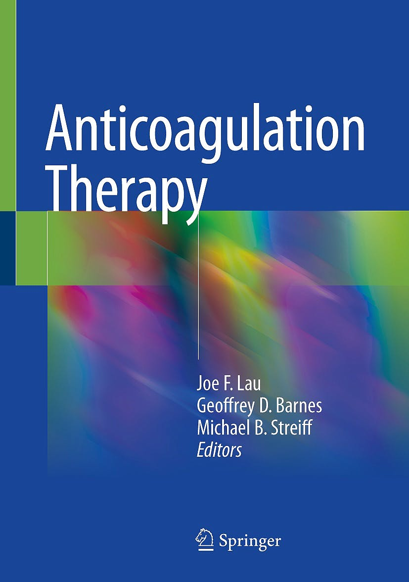 Portada del libro 9783319737089 Anticoagulation Therapy