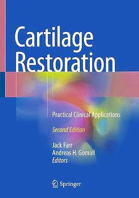 Portada del libro 9783319771519 Cartilage Restoration. Practical Clinical Applications