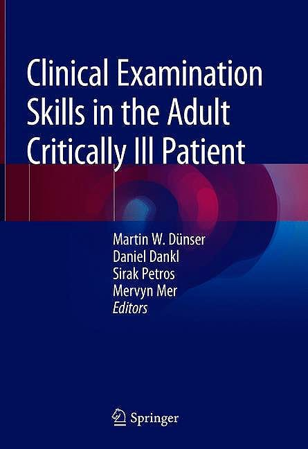 Portada del libro 9783319773643 Clinical Examination Skills in the Adult Critically Ill Patient