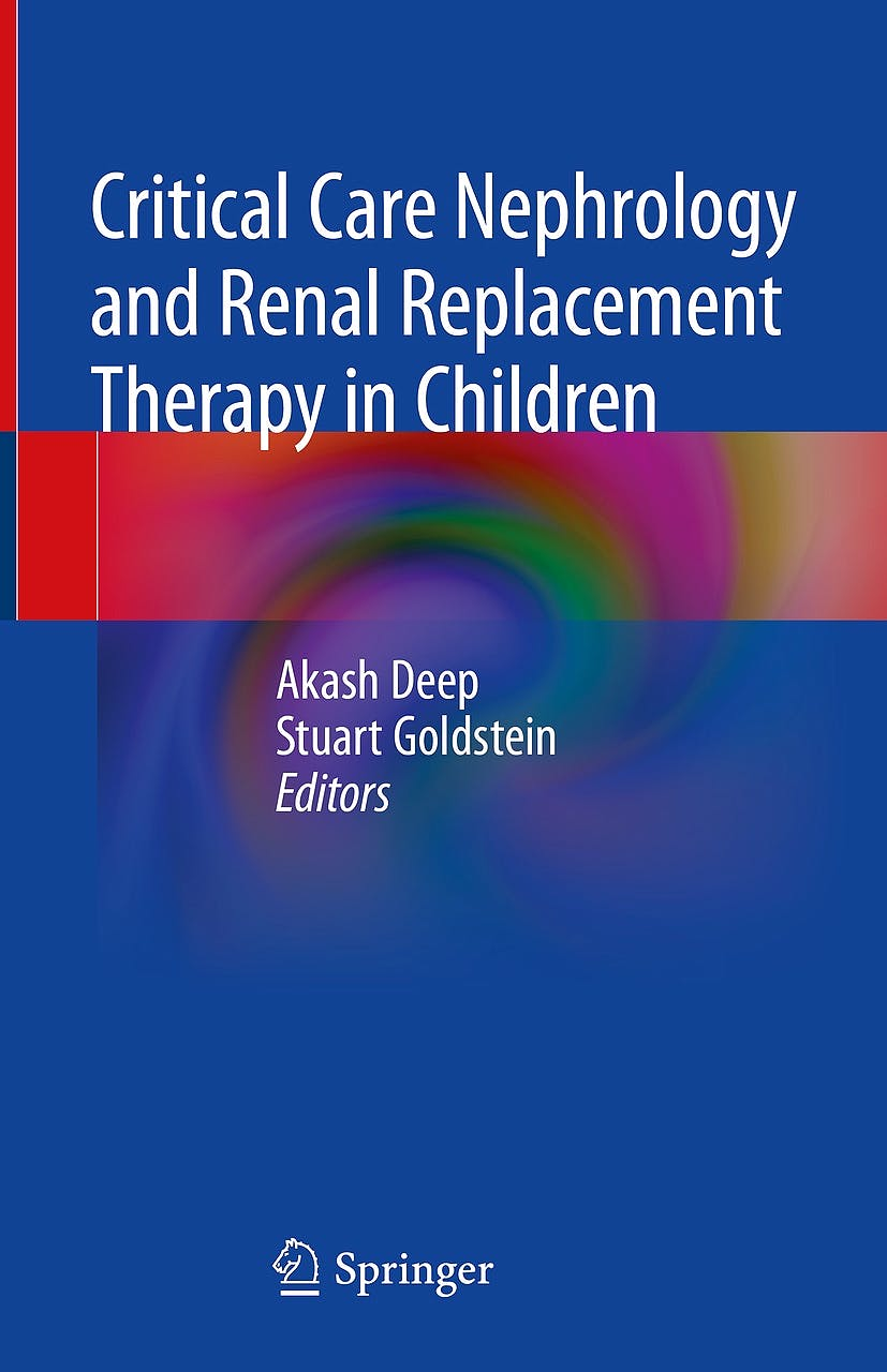 Portada del libro 9783319902807 Critical Care Nephrology and Renal Replacement Therapy in Children
