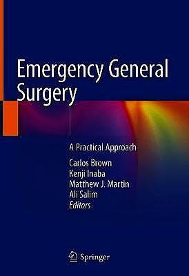 Portada del libro 9783319962856 Emergency General Surgery. A Practical Approach