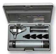 Otoscopio Heine Mini-Set 3000 XHL con 4 Espéculos de Uso Permanente, 5 Allspec Espéculos Desechables de 2,5 mm. y 4 mm. Ø y Estuche Rígido