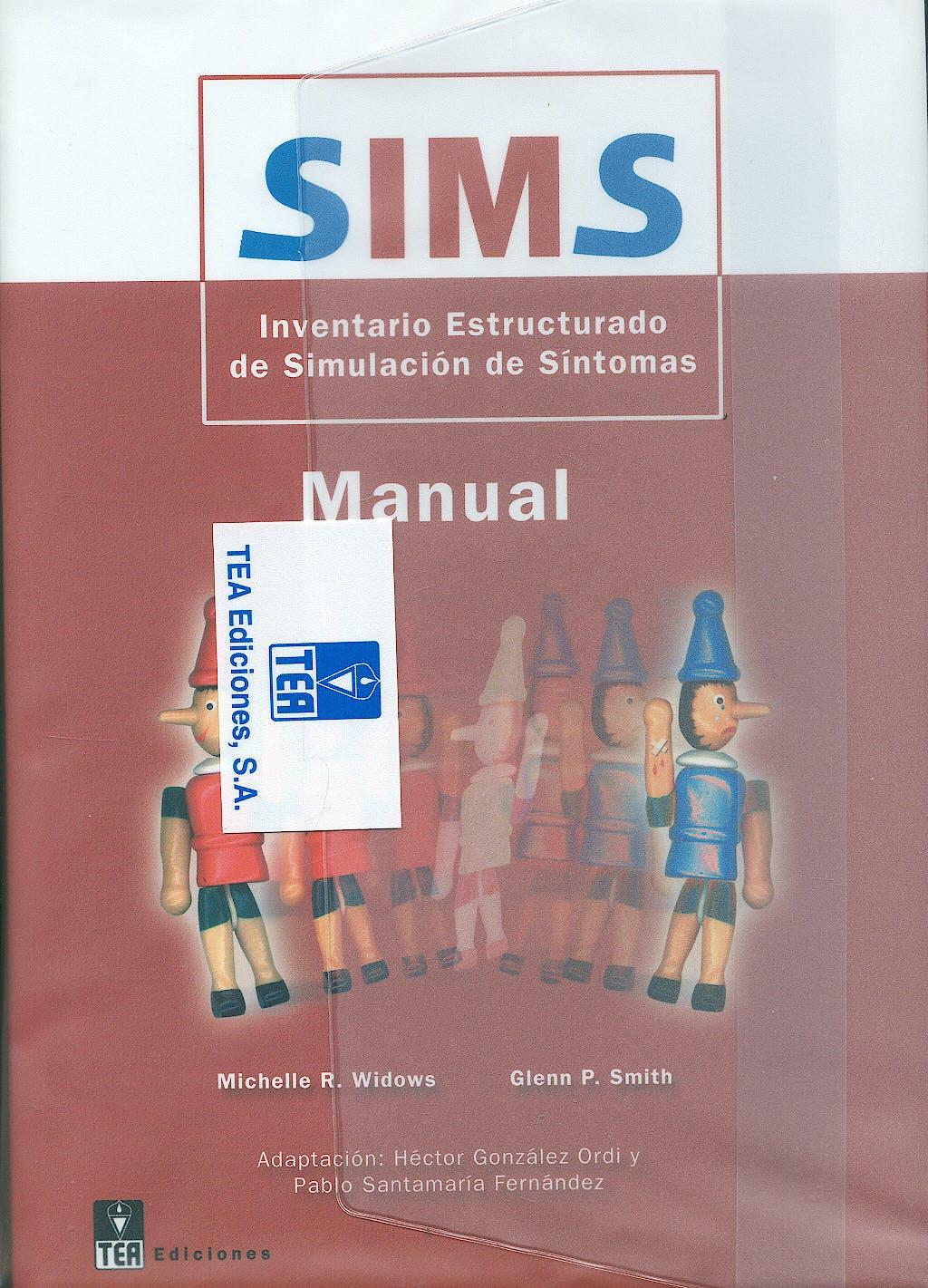 Portada del libro 9783363030297 SIMS. Inventario Estructurado de Simulación de Síntomas (Juego Completo)