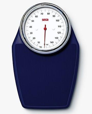 Báscula Mecánica de Suelo SECA Mod. 760 Color Azul, Capacidad 150 kg., División 1000 g.