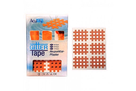 Cross Tape Acutop, Tipo B: Caja de 120 Unidades (20 Láminas x 6 Parches)