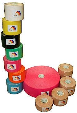 Temtex Tourmaline Kinesiology Tape: Caja de 6 Rollos de 5 Metros X 5 Cm. - Color Verde