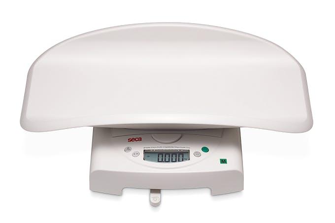 Pesabebés Electrónico Digital Clase III SECA Mod. 385, con con Artesa Desmontable para Niños de hasta 50 kg., Fuerza 50 kg., División 20/50 g.