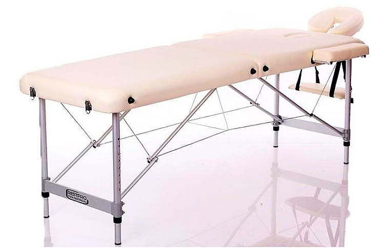 Camilla Plegable Kinefis Supreme Aluminio 2 Cuerpos Ancho 60 Cm (Color Crema)
