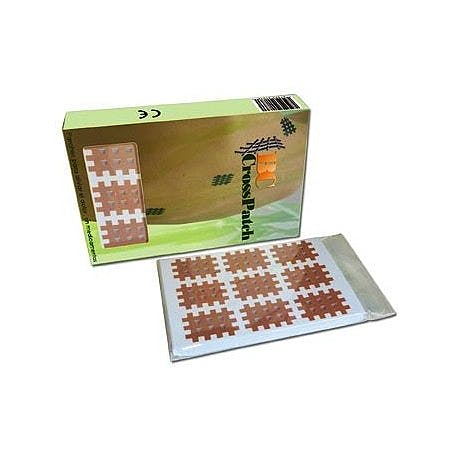 Cross Taping BC Cross Patch, Tipo B: Caja de 120 Unidades: Cruzado de 3 X 4 Lineas con Espacio de 4 mm., 6 Parches por Lamina
