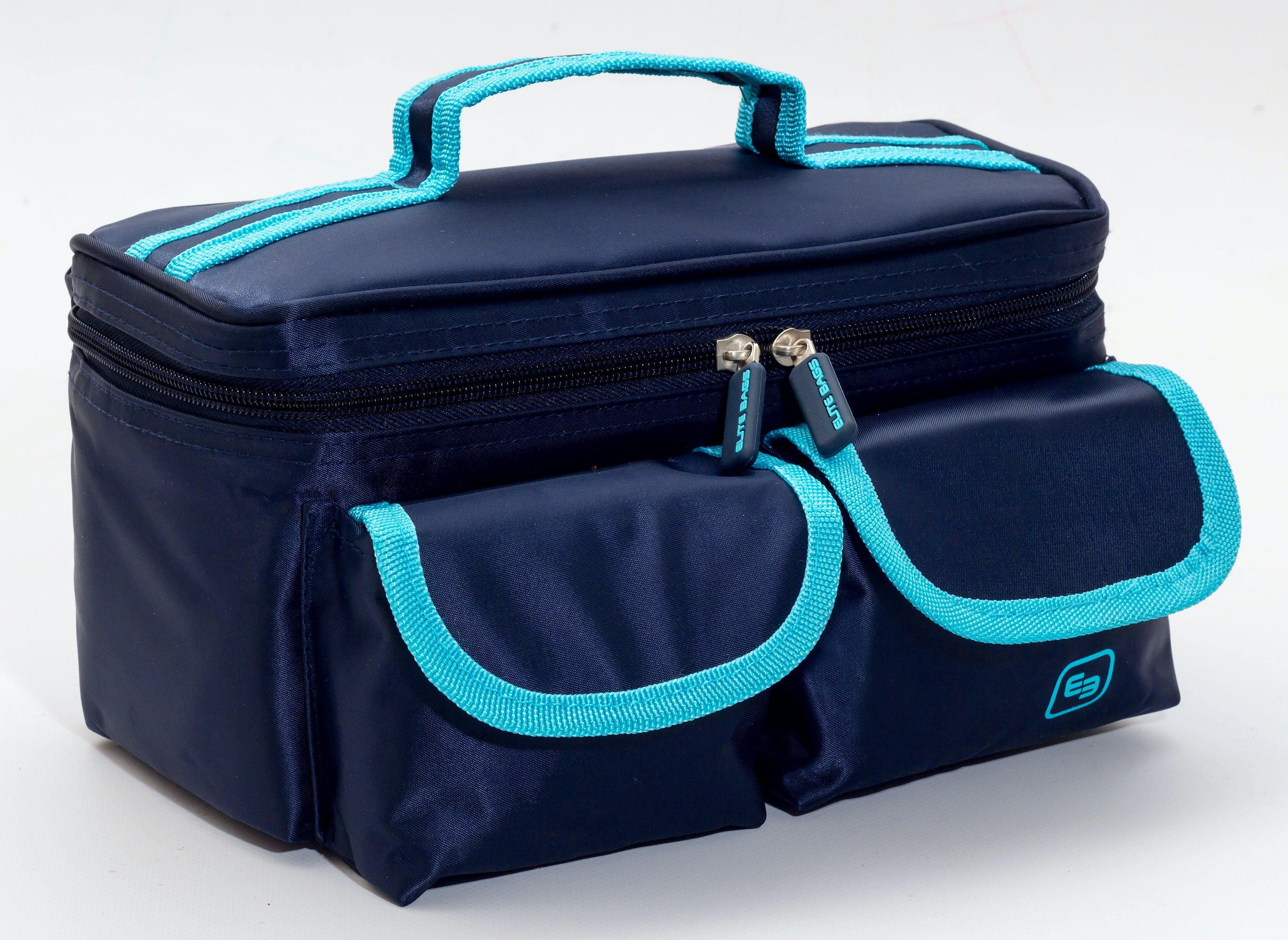 Gradilla Isotérmica para Transporte de Muestras Modelo ROW'S EB04.002. Sarga, Color Azul Marino