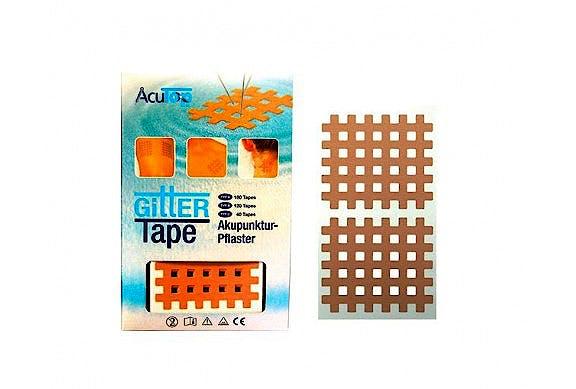 Cross Tape Acutop, Tipo C: Caja de 40 Unidades (20 Láminas x 2 Parches)